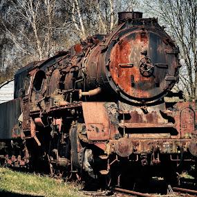 Ghosttrain by Jürgen Mayer - Transportation Trains ( steamtrain, lok, old, lokomotive, alt, ghosttrain, vergammelt, train, forgotten, geisterzug, vergessen, steam )