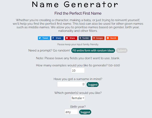 Site gerador de primeiro nome para pessoas