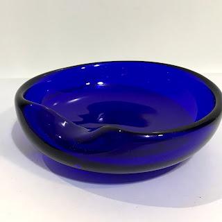 Tiffany & Co. X Elsa Peretti and Archmede Seguso Murano Glass Thumbprint Dish
