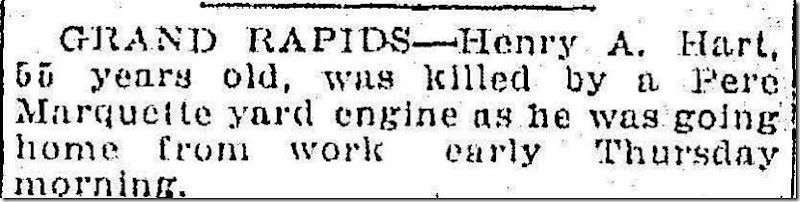 HART_Henry A_death notice_Ann Arbor News_19 Jul 1919_page 4_cropped