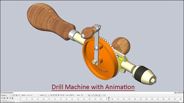 Drill Machine with Animation_2