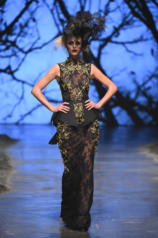 DUBAI, UNITED ARAB EMIRATES - APRIL 12:  A model walks the runway at the Amato by Furne One show during Dubai Fashion Forward April 2015 at Madinat Jumeirah on April 12, 2015 in Dubai, United Arab Emirates.  (Photo by Ian Gavan/Getty Images for Fashion Forward)
