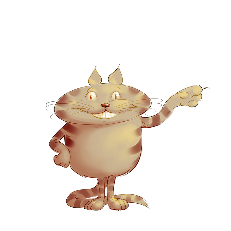 funny Cat mascot design sketch illustration