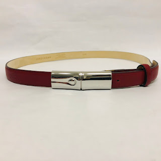 Longchamp Red Leather Belt