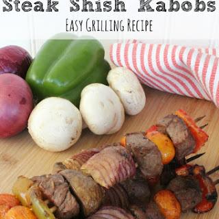 Steak Shish Kabob.