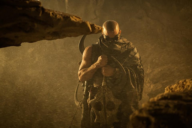 Riddick Vin Diesel covered up