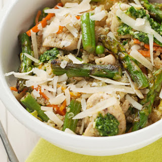 Slow Cooker Chicken and Spring Vegetable Quinoa.