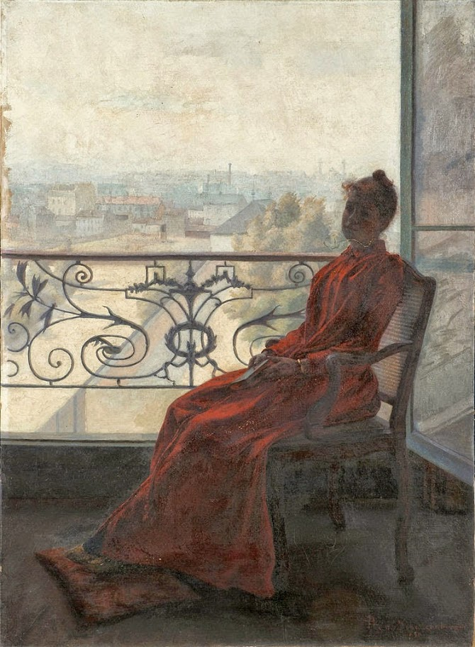 René Schützenberger - Reader at the Window (1890)