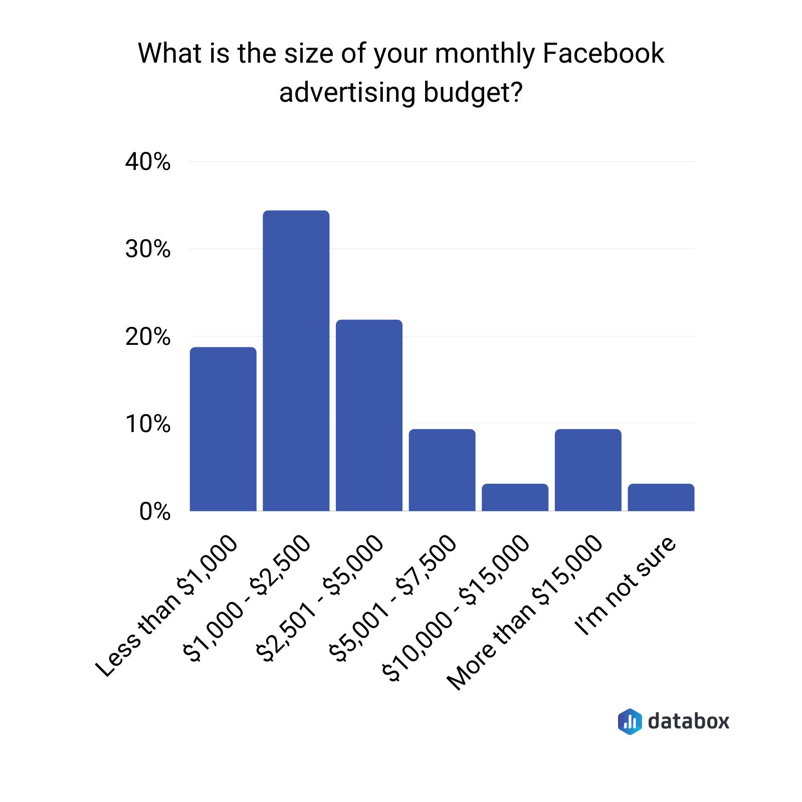 Average budget for Facebook advertising