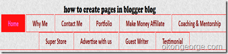 how to create pages in blogger blog