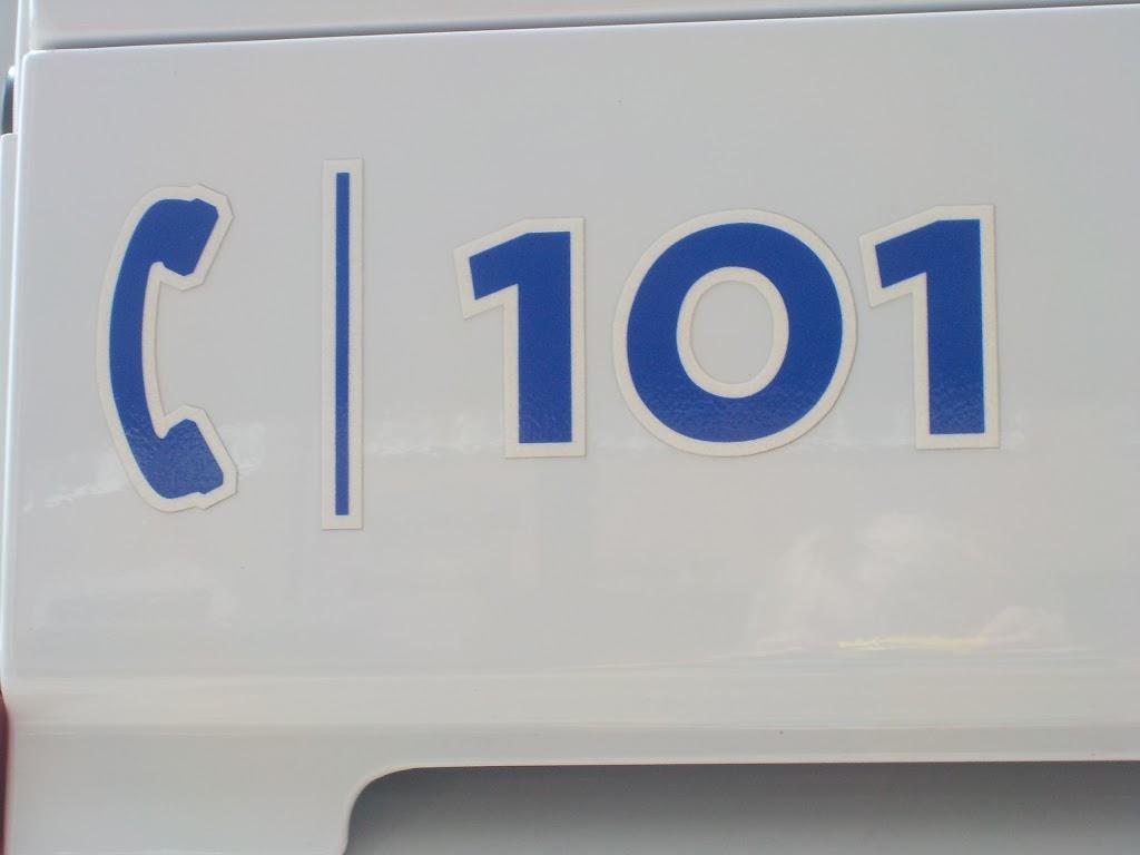 De Knetters op bezoek bij de politie - DSCN0361.JPG