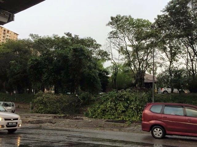 Keadaan Selepas Ribut di Taman Ehsan Kepong