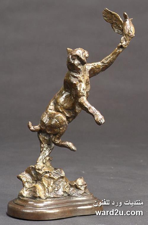حيوانات من برونز فى اعمال النحات Tim Shinabarger