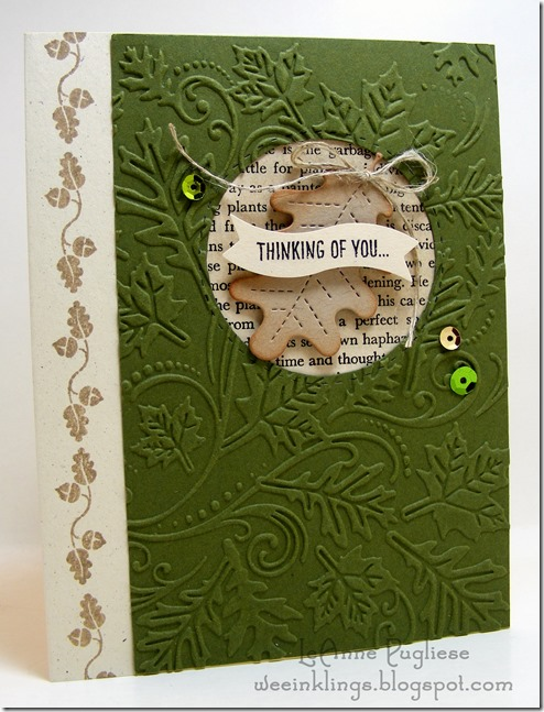LeAnne Pugliese WeeInklings Paper Players 267 CAS Leaf Thinking of You Happy Scenes Stampin Up