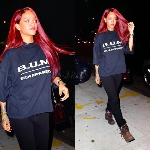 Rihanna in BUM Equipment