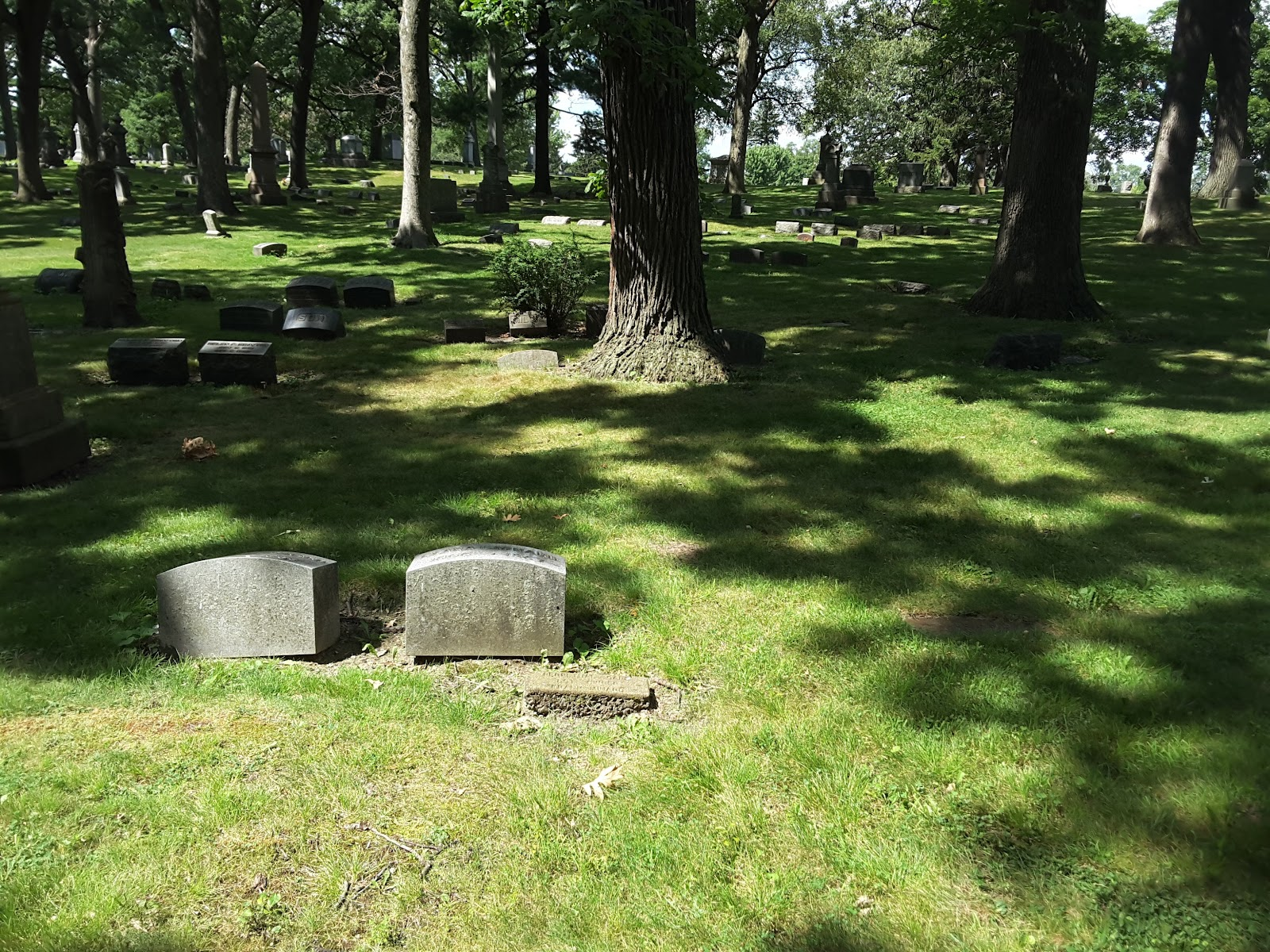 Minards were reinterred at Mount Greenwood Cemetery in Chicago; Lot 9 Section 11 on August 29, 1889.