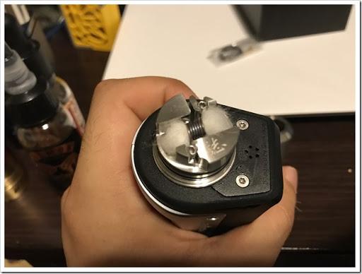 IMG 4409 thumb - 【ウルテムバンザイ】ADVKEN Gorge RDA(アドビケン・ゴージRDA)レビュー!狭い本体から作られるシングルビルドの濃厚ミストは、エアフロー全開でも美味!?