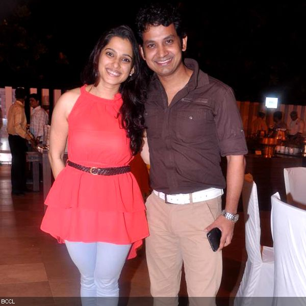 Talented couple, Priya Bapat and Umesh Kamat during the press meet of MIFTA Awards, held in Mumbai, on May 27, 2013. (Pic: Viral Bhayani)