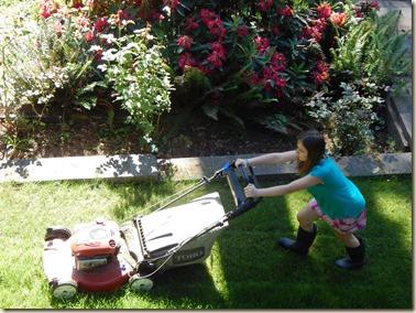 5-22 Kyla mowing 2