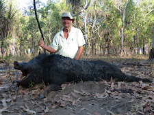 Mr Fronnicke, Germany took this good wild boar at Carmor Plains. We were only after croc bait, but this one had nice tusks as well.