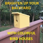 Outdoor backyard bird houses
