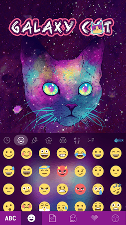 Galaxy Cat Emoji Kika Keyboard 1.0 screenshot 1061189