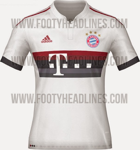 The away kit comes main white color which is supporter by dark red and dark  grey applications as Adidas stripes on shoulder 48cc8408c
