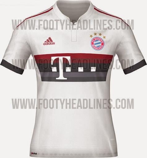 buy popular ef5b4 9b3e0 Bayern Munich 2015-16 Home Kit (Released) Away & Third Leaked