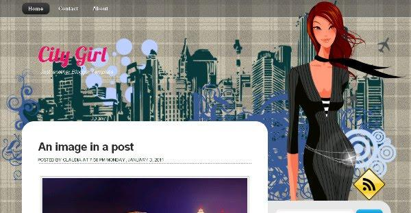 City Girl Blogger Template