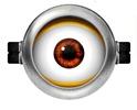 Molde Minions: Imprimible Lente de un solo ojo