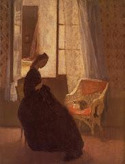 john, gwen, chambre, cour, 1907-08, woman, room, light, peaceful, meditation