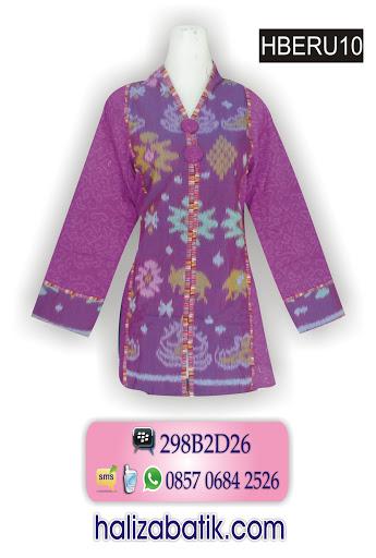 busana kerja batik, model baju terbaru, grosir pakaian