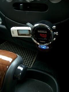 Logitec車載用FMトランスミッターLAT-FM311U取り付けたところ