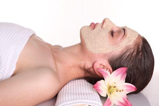 máscara facial spa caseiro relaxante