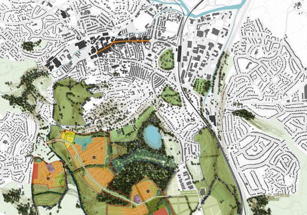 The Wolborough Barton masterplan