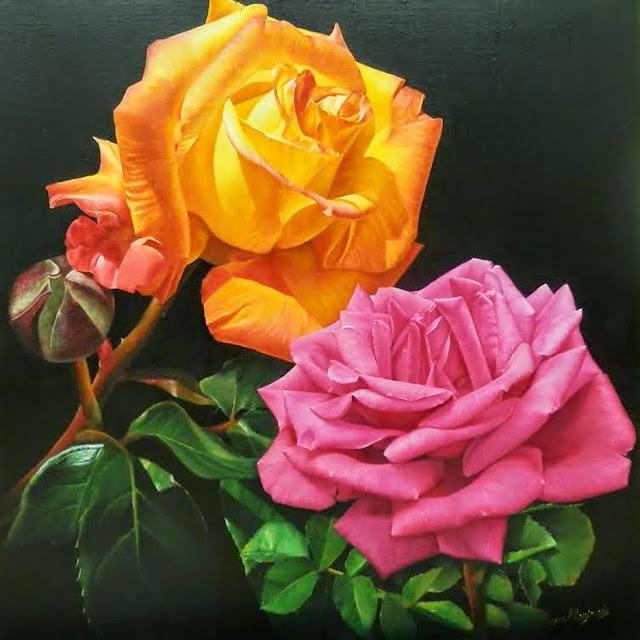 Dos rosas,obra de Manjarrés