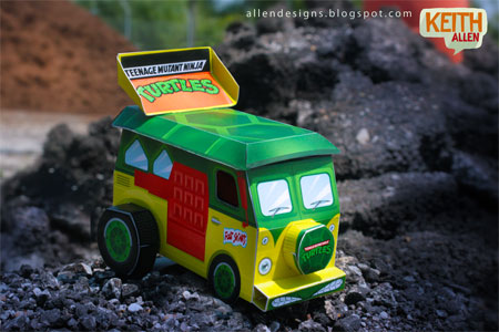 TMNT Turtle Van papercraft