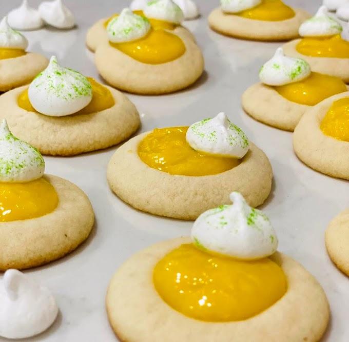 Lemon Meringue Thumbprint Cookies Recipe | Breakfast Care