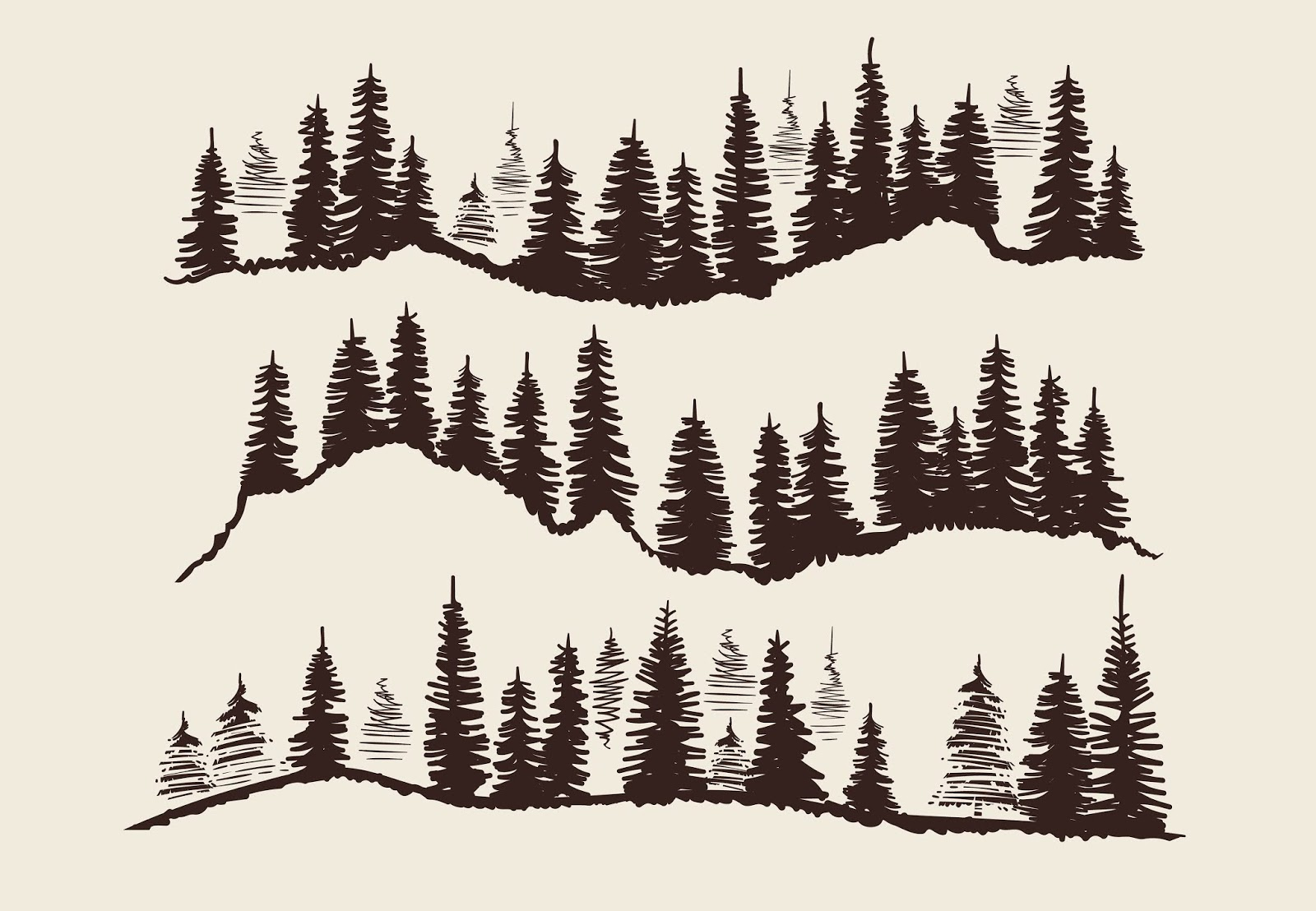 Vintage Engraving Forest Doodle Sketch Free Download Vector CDR, AI, EPS and PNG Formats