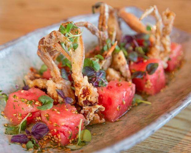 photo of Soft-Shell Crab with Pickled Watermelon