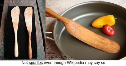 Not spurtles even though Wikipedia may say so
