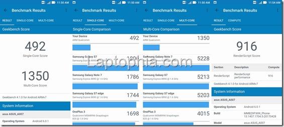 Benchmark Geekbench 4 Asus Zenfone Live ZB501KL