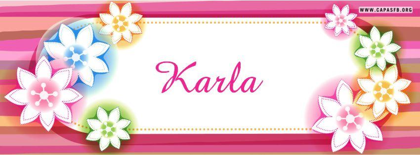 Capas para Facebook Karla