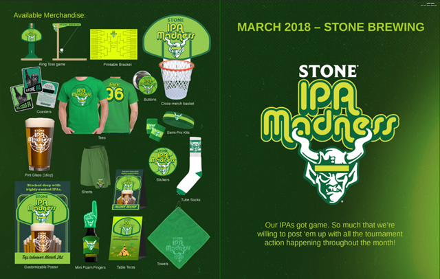 Stone IPA Madness Coming For March Madness 2018 (Buzzer Beater DIPA)
