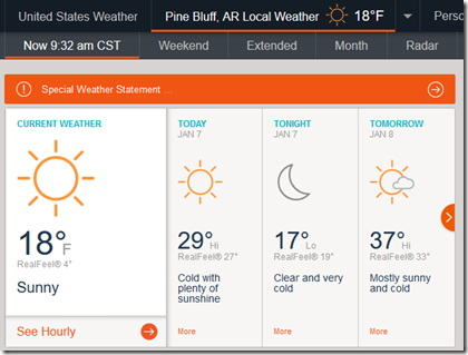 AccuWeather app for Firefox
