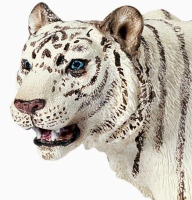 Đồ chơi Mô hình Schleich Tiger White - Hổ Trắng được sơn vẽ thủ công rất tỷ mỉ, màu sắc bắt mắt