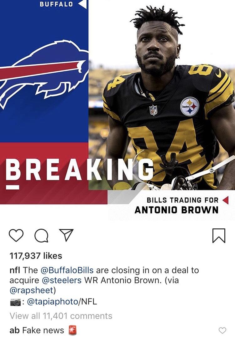 Antonio Brown Trade