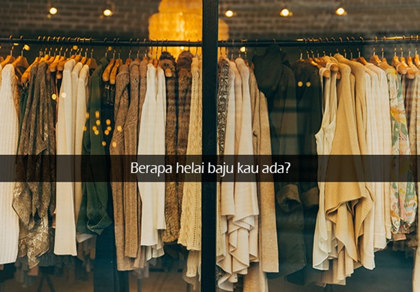 Berapa Banyak Baju Yang Kau Ada? Nile.com.my, Online Shopping, Jual Online, Baju Murah, Malaysia Online Shopping