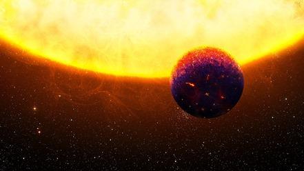 ilustração da super-Terra 55 Cancri e