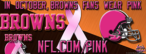 Browns Breast Cancer Awareness Pink Facebook Cover Photo
